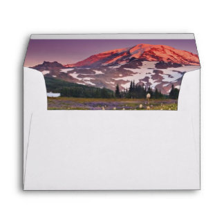 Colorful Flowers in Rainier National Park Envelope