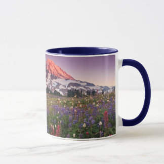 Colorful Flowers in Rainier National Park Mug
