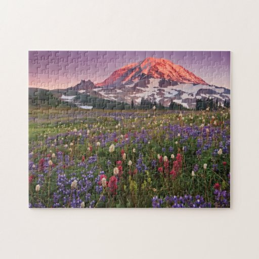Colorful Flowers in Rainier National Park Jigsaw Puzzle