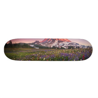 Colorful Flowers in Rainier National Park Skateboard Deck