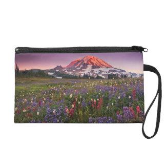 Colorful Flowers in Rainier National Park Wristlet Purse