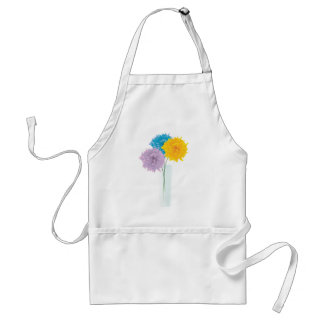 Colorful Flowers In Vase Adult Apron