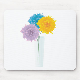 Colorful Flowers In Vase Mouse Pad