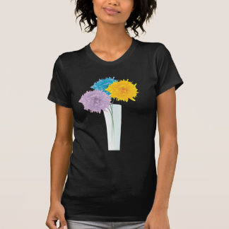 Colorful Flowers In Vase T Shirts