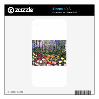 Colorful flowers iPhone 4S skins