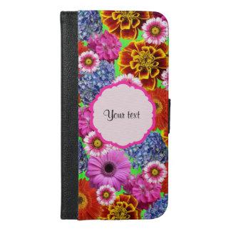 Colorful Flowers iPhone 6/6s Plus Wallet Case