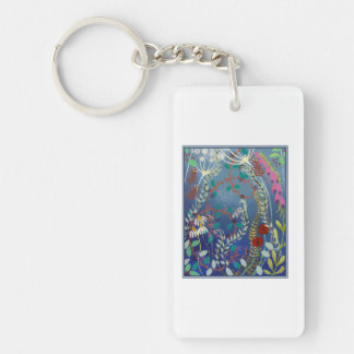 Colorful Flowers. Keychain