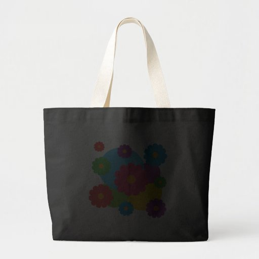 Colorful Flowers Large Tote Bag