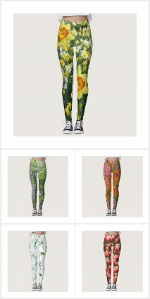 Colorful Flowers Leggings Collection
