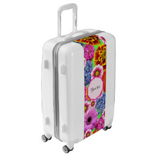 Colorful Flowers Luggage
