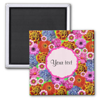 Colorful Flowers Magnet