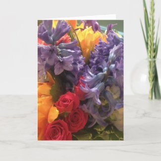 Colorful Flowers Mother's Day Card