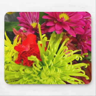 colorful  flowers mouse pad