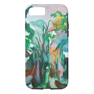 Colorful flowers on an iPhone case