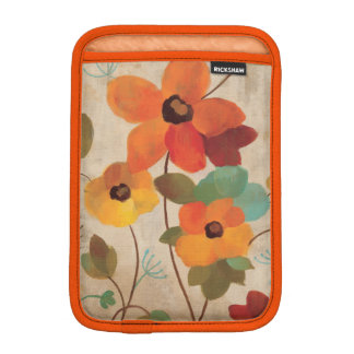 Colorful Flowers on an Off White Background Sleeve For iPad Mini