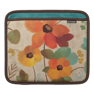 Colorful Flowers on an Off White Background Sleeve For iPads