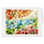 Colorful flowers pattern background greeting cards
