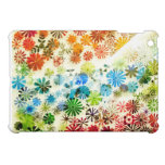 Colorful flowers pattern background iPad mini case