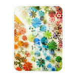 Colorful flowers pattern background flexible magnets