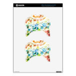 Colorful flowers pattern background xbox 360 controller skins