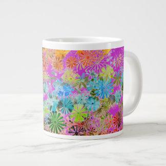 Colorful flowers pattern background jumbo mug