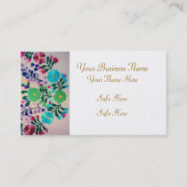 Colorful Flowers Pattern Business Card