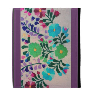 Colorful Flowers Pattern iPad Folio Cover