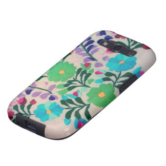 Colorful Flowers Pattern Galaxy SIII Cover
