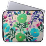 Colorful Flowers Pattern Laptop Computer Sleeve