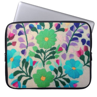 Colorful Flowers Pattern Laptop Sleeve