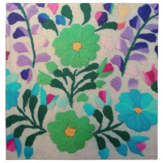 Colorful Flowers Pattern Napkin