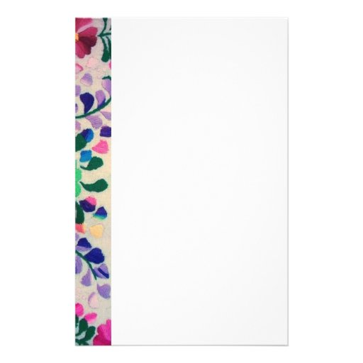 Colorful Flowers Pattern Custom Stationery