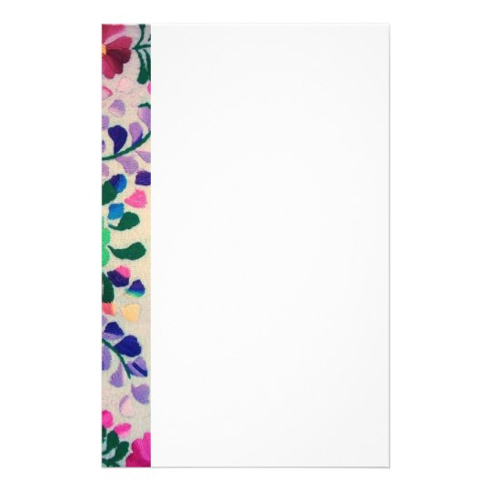 Colorful Flowers Pattern Stationery