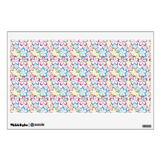 Colorful flowers pattern room graphic