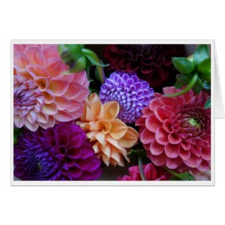 Colorful Flowers Photo Card