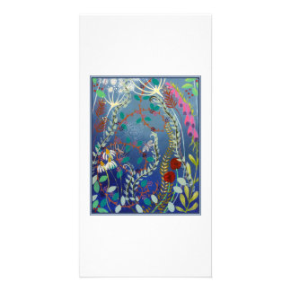 Colorful Flowers. Personalized Photo Card