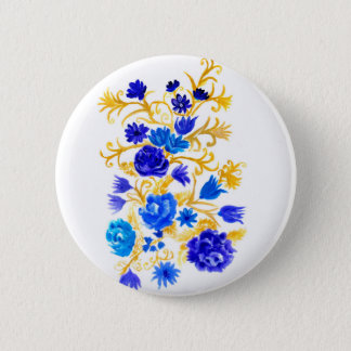 Colorful Flowers Pinback Button