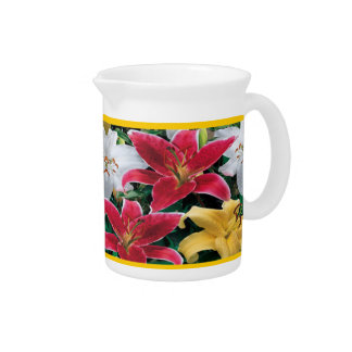 Colorful Flowers Pitcher