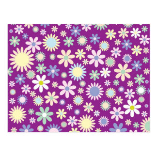 Colorful flowers post card