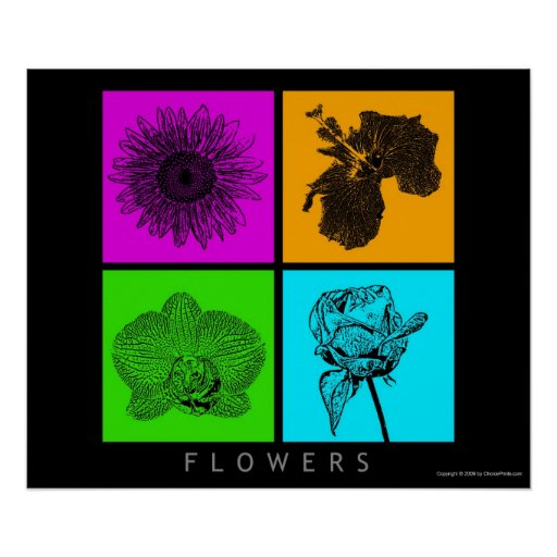 Colorful Flowers Posters