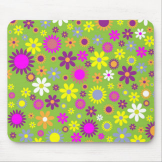 Colorful flowers seamless pattern mouse pad