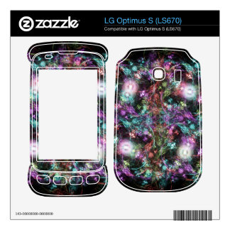 Colorful Flowers Decal For LG Optimus S