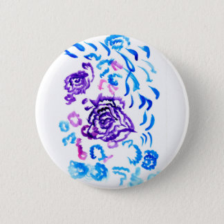 Colorful Flowers Strokes 4 Pinback Button