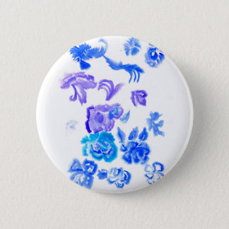 Colorful Flowers Strokes Pinback Button