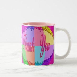 Colorful Flowers Thank You Coffee Mug