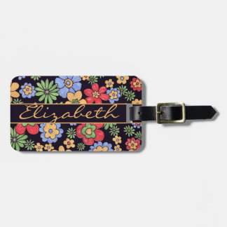 Colorful Flowers to Personalize and Address Luggage Tag