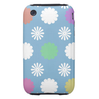 Colorful Flowers Tough iPhone 3 Cover