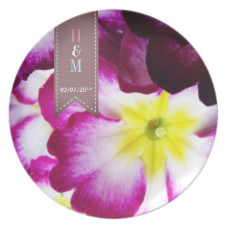 Colorful Flowers Wedding Dinner Plate