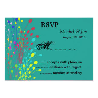 Colorful FlowersWedding RSVP Reply Cards