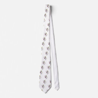Colorful Flowing Music Notes Neck Tie